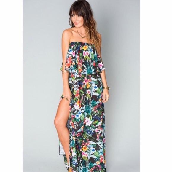 79b62d9e68d2f5 Show Me Your MuMu Dresses | Tropical Lovefest Hacienda Maxi | Poshmark
